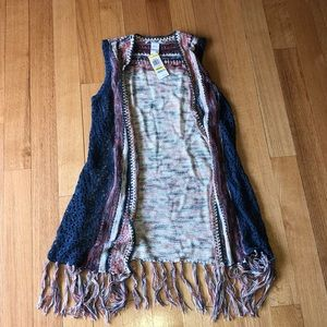💙❤️American Rag Sleeveless Cardigan